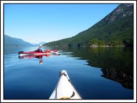 Kayaking on the Sunshine Coast of BC, Canada